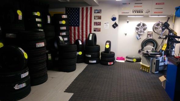 Vår däckmonteringshall